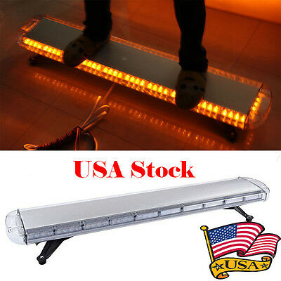 88 Led Light Bar 47 Emergency Warning Beacon Tow Truck Response Strobe Amberbar
