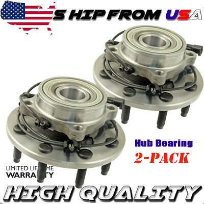 Front Wheel Hub & Bearing Pair for Dodge Ram 1500 2500 3500 4x4 4WD