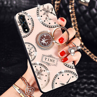 Luxury Rhinestone Diamond Ring Holder Case Cover for iPhone 11 XS Max XR 6 7 8