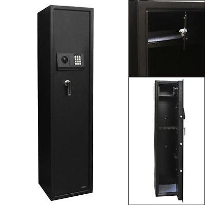 - 5 Gun Rifle Security Electronic Digital Lock Tall Safe Pistol Storage Cabinet