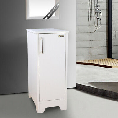 "Eclife 14"" Bathroom Small Vanity Modern MDF Wood Single Whit"
