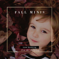 Outdoors Fall Mini Sessions. Starting at $50