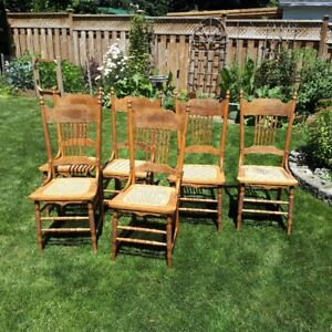 Antique Press-Back Chairs