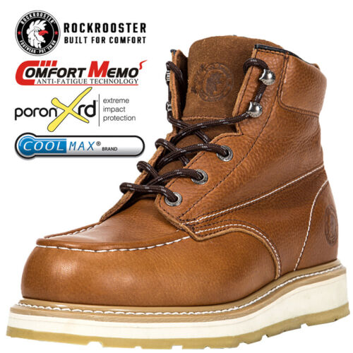 ROCKROOSTER Work Boots for Men Composite Toecap Anti-puncture Safety Boots