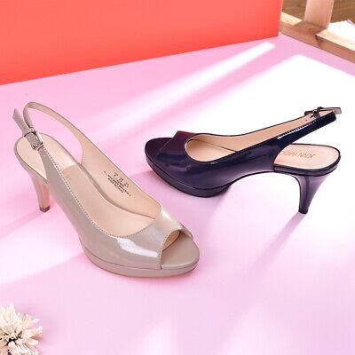 JENN ARDOR Women's Slingback Pumps Kitten Heels Peep Toe Stilettos Sandals Shoes Womens Slingback Heels