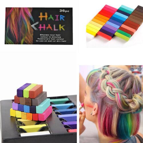36 Färben Haartönung Haar Kreide Set Puder Haarfarbe Haarpflege DIY Hair Chalk