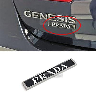 OEM Genuine Rear Trunk PRADA Logo Emblem for HYUNDAI 2009-2013 Genesis Sedan