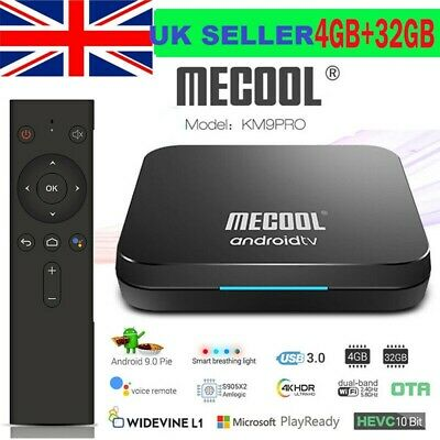 MECOOL KM9 Pro Android 9.0 TV Box Media Player S905X2 4GB+32GB Dual Wifi