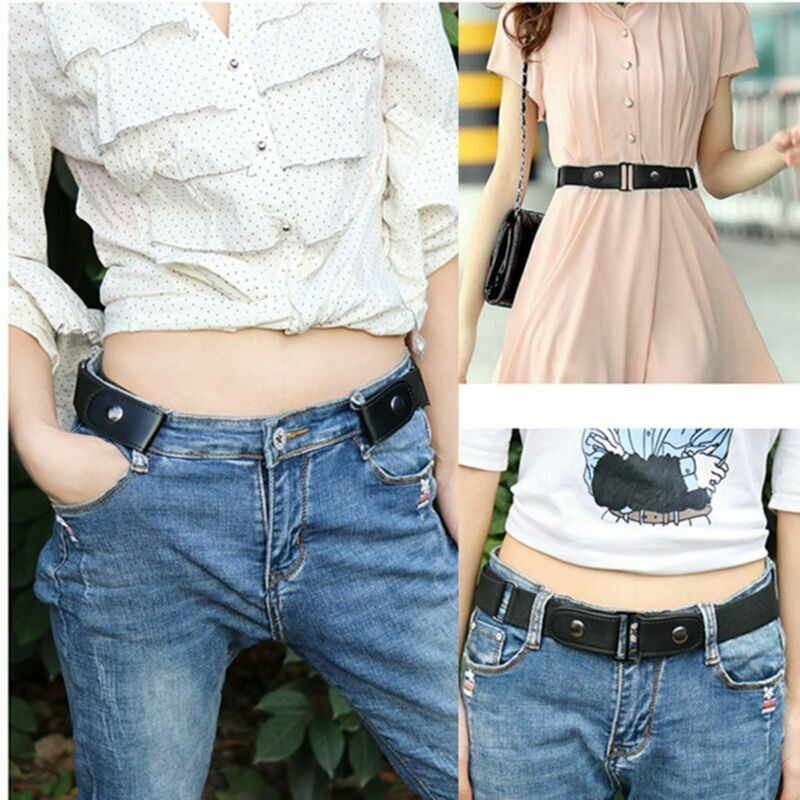 No Buckle Stretch Belts for Men and Women Buckle Free No Shown Invisible Belt for pants sweaters wind coat dresses