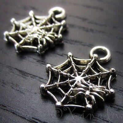 Spiderweb Halloween Cobweb Wholesale Charm Pendants C3446 - 10, 20 Or 50PCs - Halloween Charms Wholesale