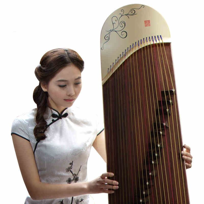 "50"" Gu Zheng Harp Traditional Chinese Musical Instrument Chinese Zither #t070"