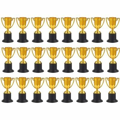 Plastic Awards Trophies (24x Plastic Gold Award Trophy Cups for Sport Tournament Competitions,)