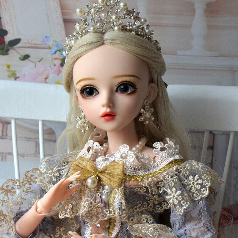 Komplettes Set 13 BJD Puppe 60cm Kugelgelenk Mädchen Puppen Prinzessin Doll Toy