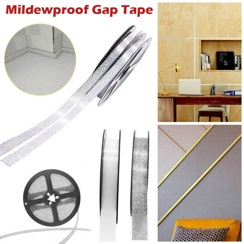 Home Decoration - 6m Ceramic Tile Mildewproof Gap Tape Self-adhesive Kitchen Waterproof Sticker UK