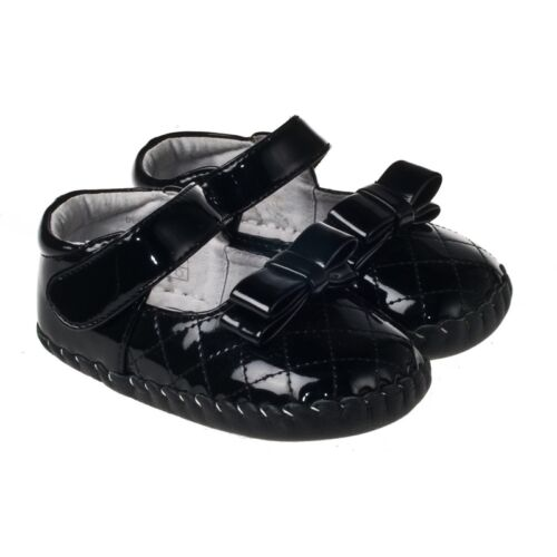 Baby+Girl%27s+Toddler+%27Party%27+Shoes+Brown%2FBlack+Patent+Leather+Cruiser+12-18+Month