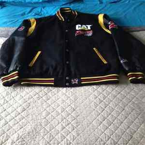 Men's XL Cat NASCAR racing jacket 22 Bill Davis.