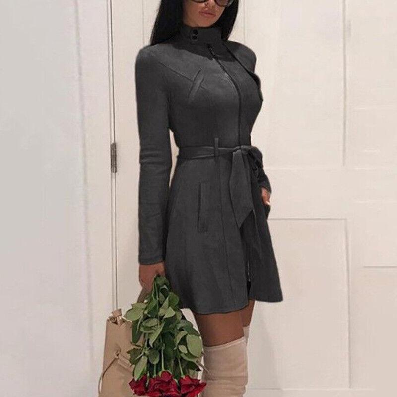 Women Jacket Slim Fit Winter Mini Us