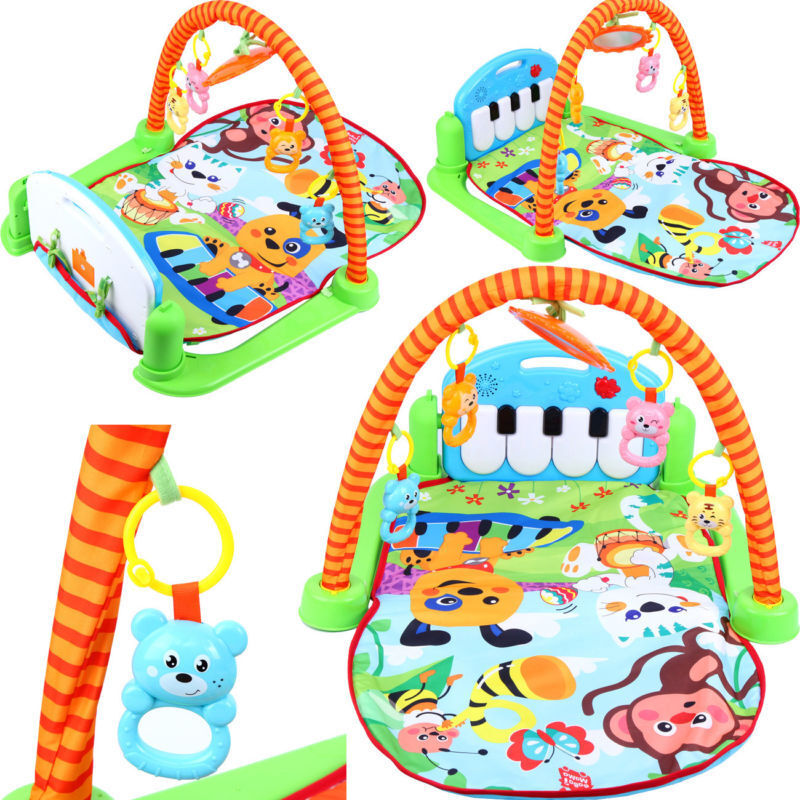 Baby Play Mat Gym Mat Fitness Activity Center Music Piano Pa