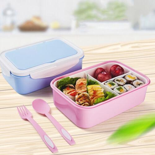 Brotdose Brotbox Lunchbox Behälter Mikrowellengeeignet Vesperdose mit Bestecke