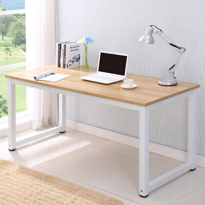 Computer Desk Wood Pc Laptop Table Workstation Study Home Office Furniture
