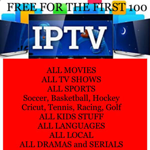 IPTV Services - Free to the first 100