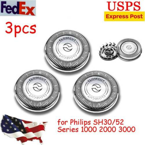 3pcs Shaver Razor Heads Blades SH30/52 for Philips Norelco S