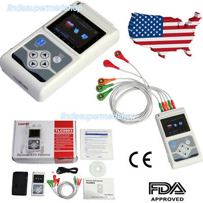 24 Hours 3 Channel Ecgekg Holter Monitor System Contec Tlc9803 Promotion Price
