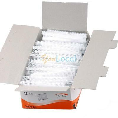 5000pcs 1 Inch Standard White Plastic Price Tagging Barbs Fasteners Hot Yl