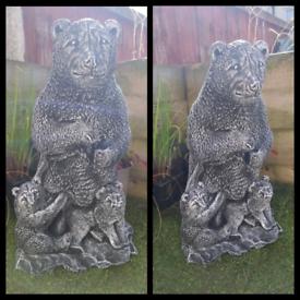 Bear and Cubs Garden Ornament