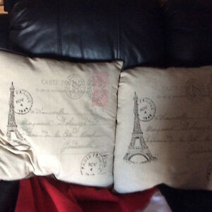 Chez Paris throw pillows