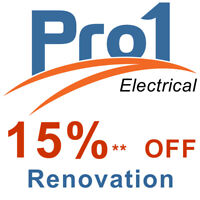 Renovating - get 15% off your electrical