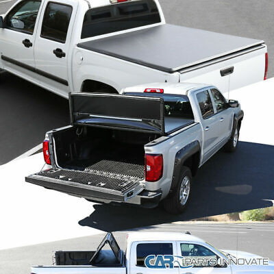Bed Pickup Cover - For 07-15 Toyota Tundra Pickup 6.5' Short Bed Trifold Tri-Fold Tonneau Cover