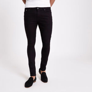 Brand New With Tags Mens Forever 21 Black Skinny Jean $20 36x32
