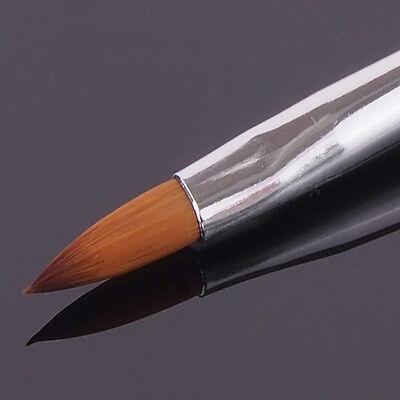 Acryl Pinsel Gr. 8 Katzenzunge Rosa Modellage Nagel Profipinsel Nail Art UV Gel