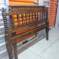 antique spool bed - double