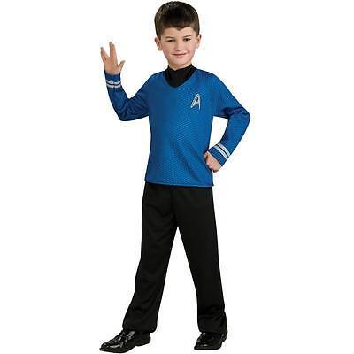 Star Trek SPOCK Blue Uniform DOC BONE Halloween Fleet Costume 8/10 MED Child Boy