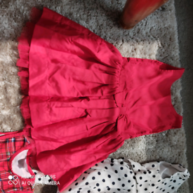 5 beautiful dresses for a girl of 6-12 months.