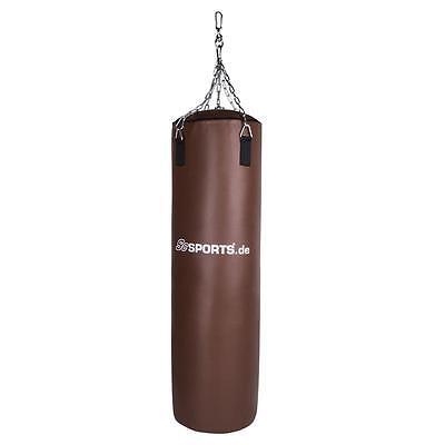 Boxsack Boxen Sandsack ungefüllt 120 X 35 Braun Stahlkette PVC Punching Bag Sack