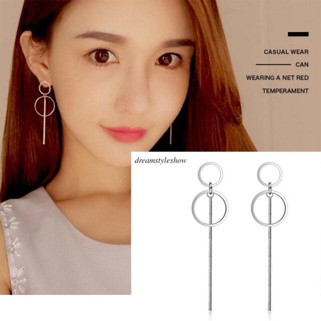 Korean Earring Korean Style 925 Sterling Silver Two Side Earrings For Women Trendearrings