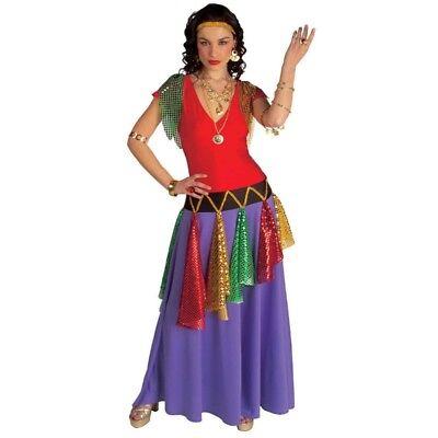 Exclusives Zigeuner Kleid M (38/40) Damen Gypsy Piratin Zigeunerin Kostüm - Zigeuner Kleid Kostüm