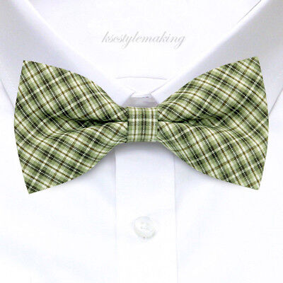 Difou Plaid Check Woven Cotton Tie
