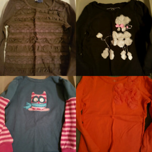 4t long sleeved shirts $2 each