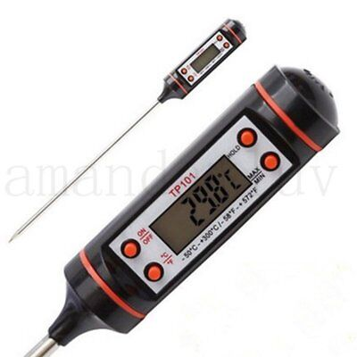 Digital Food Thermometer Probe Temperature Sensor Cooking BBQ Meat Turkey Jam