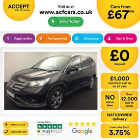 Honda CR-V FROM £67 PER WEEK!