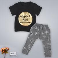 Recién Nacido Bebé Niño Niños Verano Camiseta Blusas + Pantalones Conjunto Ropa -  - ebay.es