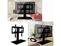"37""-55"" Cantilever Black Glass TV Stand with Bracket for Plasma LCD LED.STRONG"