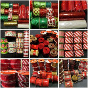Ribbon for crafts, Christmas ribbon, gift wrapping, decorating