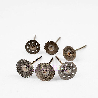 New Dental Diamond Polishing Wheel Saw Disc Rotary Tool With 18pcs Shanks