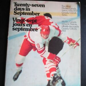 The official Hockey Canada 1972 Canada/Russia series.