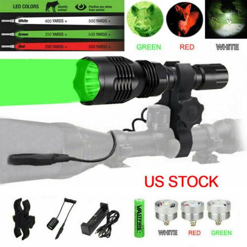 400 Yards Red/Green Bulb Flashlight Hunting Light Varmint Pr
